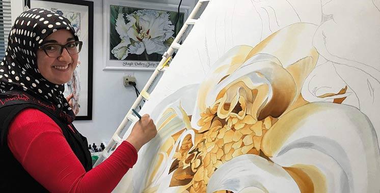 Quand la peinture sur soie se mêle à la géométrie islamique