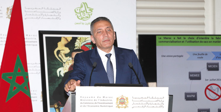 Entrée en vigueur de la loi contre les sacs en plastique: Moulay Hafid Elalamy présente les mesures d'accompagnement