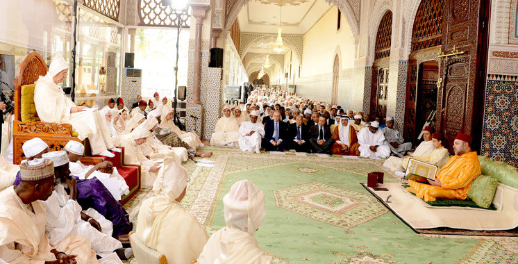 Fès : SM le Roi préside la cérémonie d'installation du Conseil supérieur de la Fondation Mohammed VI des Oulémas africains