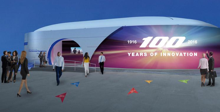 Boeing célèbre son siècle d'existence au Salon Farnborough