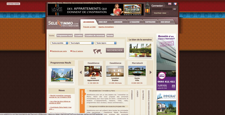 Portails immobiliers: «SeleKtimmo.com» passe sous le giron  de «Sarouty.ma»