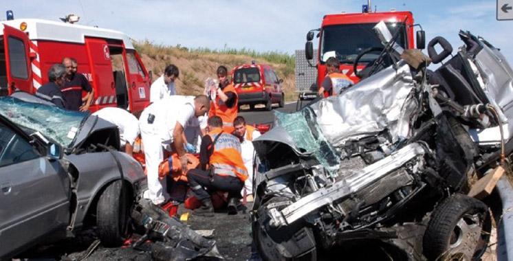 Espagne :  35 Marocains blessés dans un accident de la route