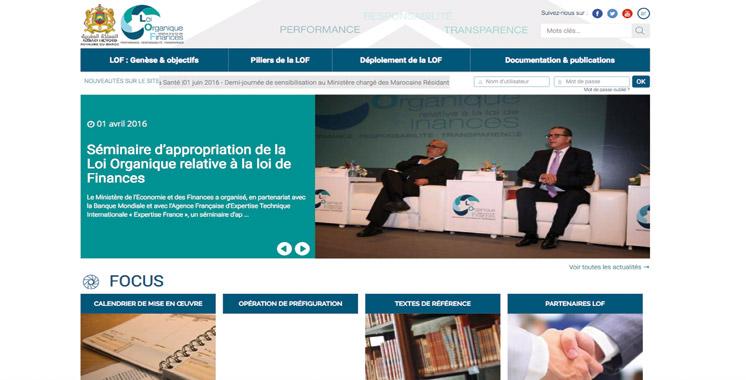 Un site web rien que pour la loi organique relative  à la loi de Finances