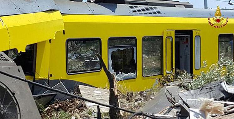italie une dizaine de morts dans une collision entre deux trains aujourd 39 hui le maroc. Black Bedroom Furniture Sets. Home Design Ideas