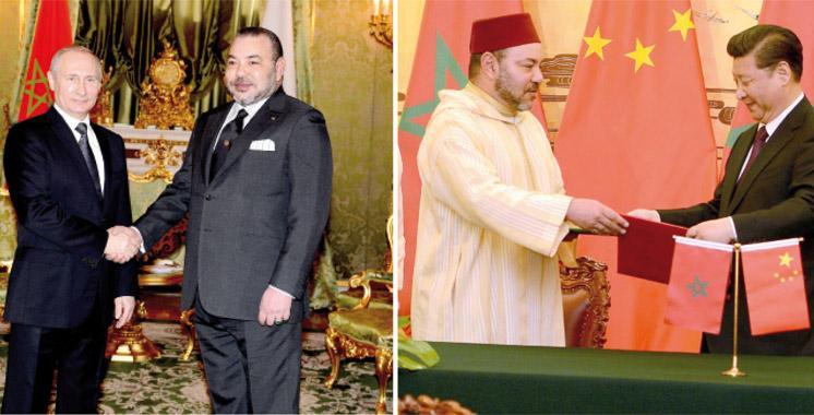 Visites du Souverain en Russie et en Chine: Diplomatie royale sous le signe de la diversification  de partenaires