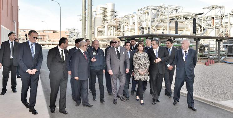 Energie solaire: Le Souverain inaugure la centrale Noor I