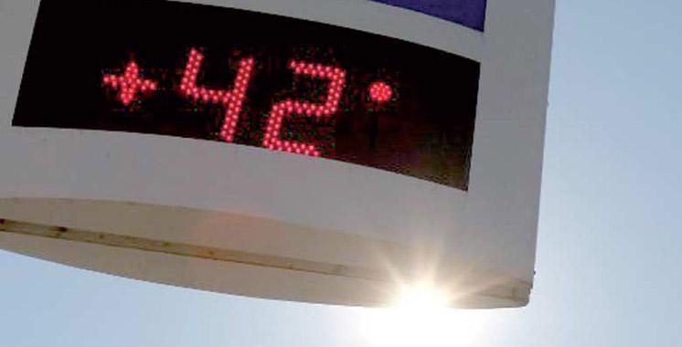 Vague de chaleur  de mercredi à  dimanche dans  plusieurs provinces du Royaume