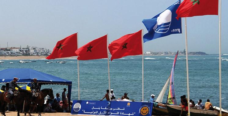 La plage de Bouznika se met  au diapason de la COP22: Elle a hissé son Pavillon Bleu grâce aux efforts de l'ONEE
