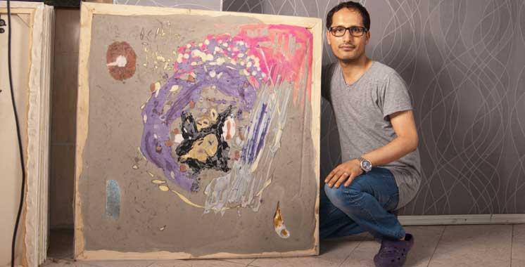 L'artiste-peintre n'a jamais exposé: Le henné et le ciment se mêlent aux couleurs par les soins de Anajjar
