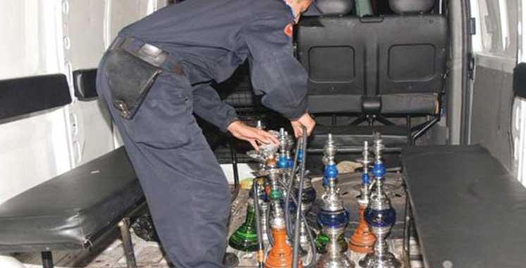 Tanger : Descente policière dans deux cafés  servant de  la chicha