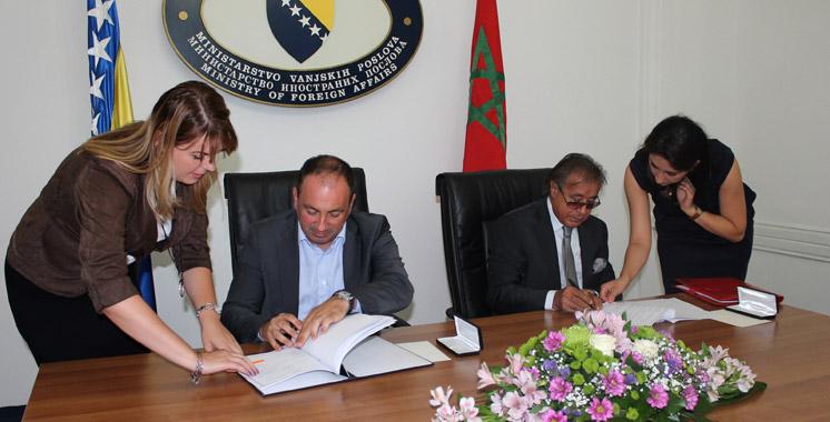 Accord entre la Bosnie-Herzégovine et le Maroc  : Suppression des visas pour les détenteurs de passeports diplomatiques
