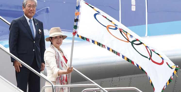 JO 2020: Le drapeau olympique de retour  à Tokyo après un demi-siècle
