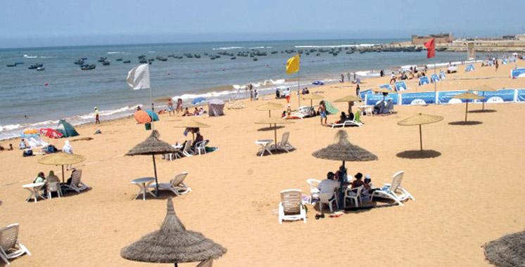 La plage Souiria K'dima hisse  le «Pavillon Bleu» pour la dixième fois consécutive