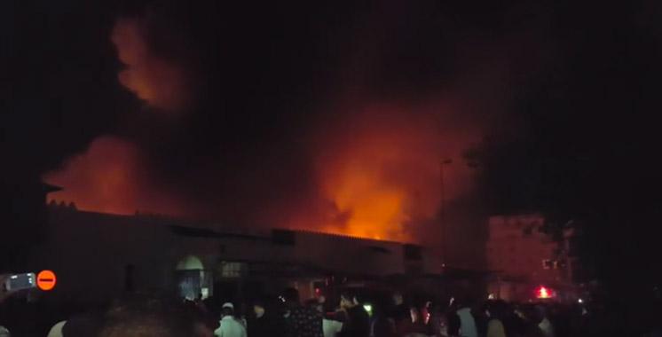 Tanger: incendie au marché aux puces de Casabarata