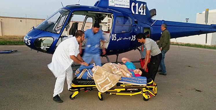 Évacuation héliportée de deux cas critiques à Boujdour et à Laâyoune