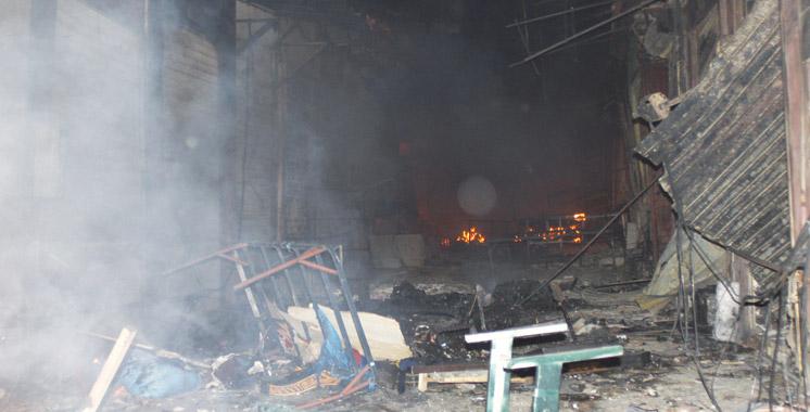 Un nouvel incendie au marché  aux puces de Casabarata