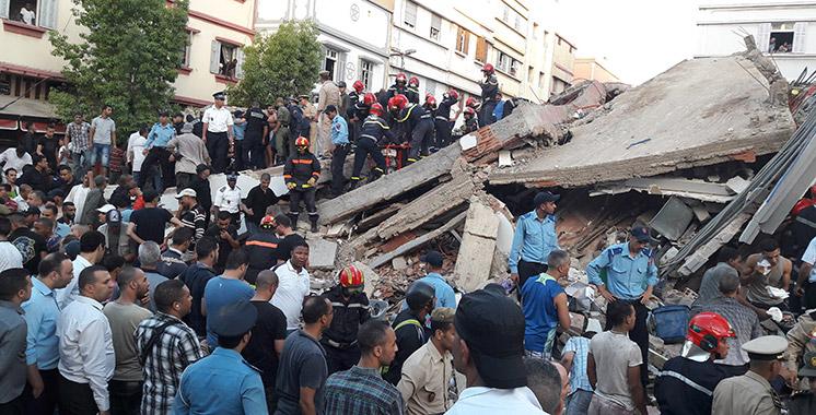 Effondrement d'un immeuble de quatre étages à Casablanca: Sbata sous le choc