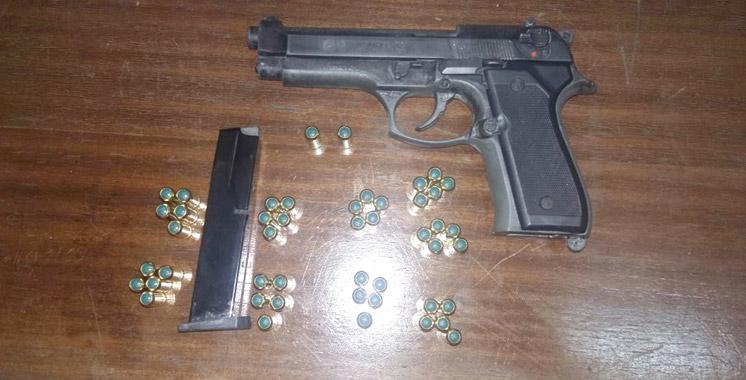 Arrestation à Safi d'un  Marocain résidant en Belgique en possession d'un pistolet