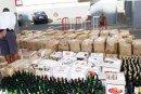 Nador :  Saisie de 13 mille bouteilles de boissons alcoolisées de contrebande