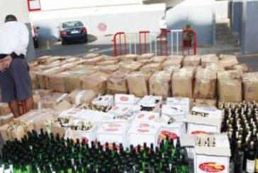 Saisie de 1.100 bouteilles de whisky  à Berkane et Farkhana