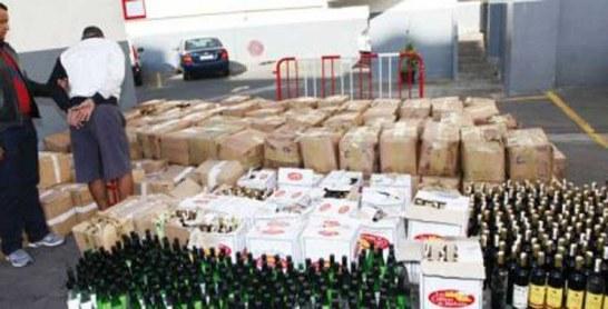 El Jadida : Plus de 2.000 bouteilles de whisky de contrebande saisies à Ouled Ghanem