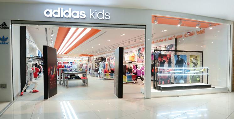 Premier magasin d'Adidas Kids pour enfant au Morocco Mall
