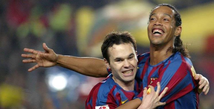 Quand Ronaldino ment au vestiaire du Barça, pour gagner un Classico