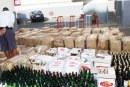 Contrebande : Saisie de 1.178 bouteilles  de boissons alcoolisées