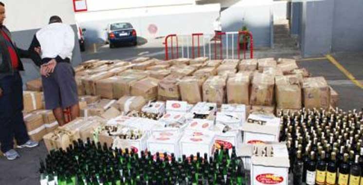 Berkane: Saisie de whisky de contrebande, haschich et cocaïne