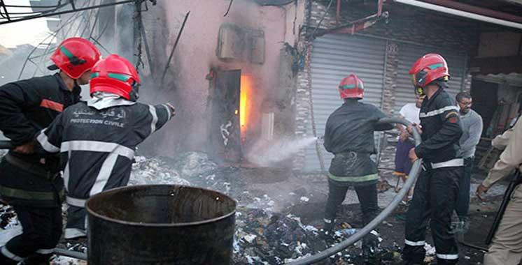 Tétouan : Un incendie dans un magasin cause des dégâts matériels importants