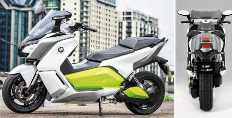 scooter lectrique le nouveau bmw c evolution au mondial de l automobile aujourd 39 hui le maroc. Black Bedroom Furniture Sets. Home Design Ideas