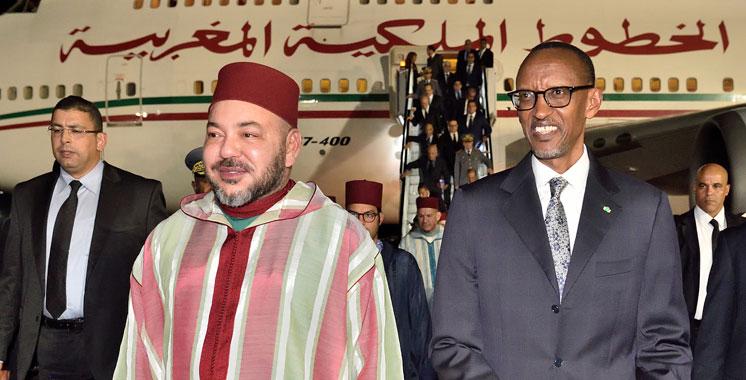 Arrivée de SM le Roi à Kigali pour une visite officielle au Rwanda