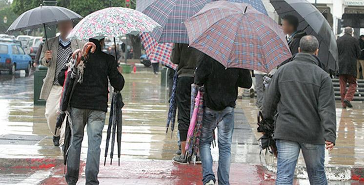 Fortes pluies prévues jeudi et vendredi dans plusieurs provinces du Royaume