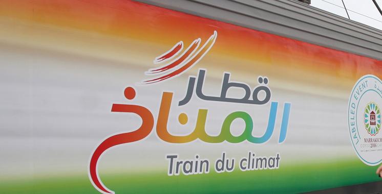 Le «Train du Climat» fait escale  à Oujda