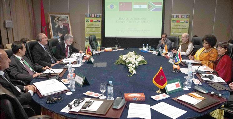 Adaptation aux changements climatiques :  Le plaidoyer des ministres des BASIC