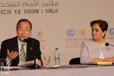 """COP22: Ban ki-Moon exprime sa """"profonde admiration"""" à l'égard de Sa Majesté le Roi et du peuple marocain"""