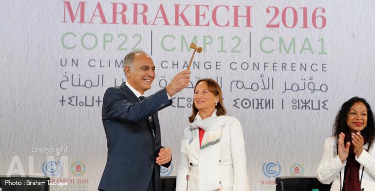 La COP 22 officiellement ouverte: Le marteau de la présidence remis à Salaheddine Mezouar