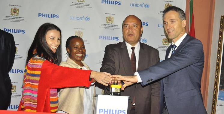 La Fondation Philips et Unicef s'associent: Une mise à niveau des conditions des scolarisés