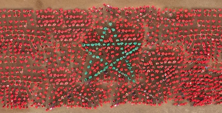 Acticall-Sitel: Un drapeau humain pour célébrer la Marche Verte