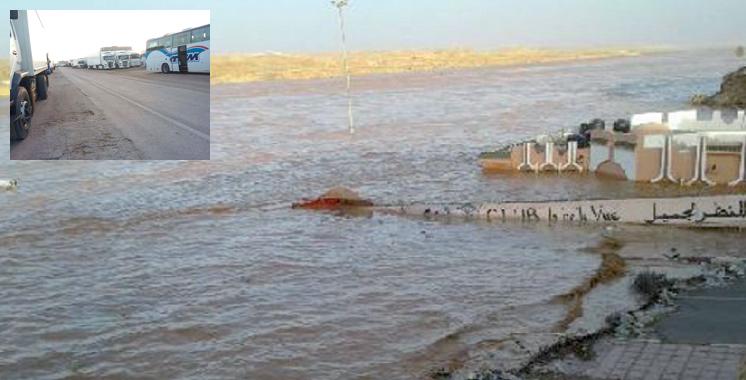 Laâyoune : Une délégation ministérielle au chevet  des victimes des inondations