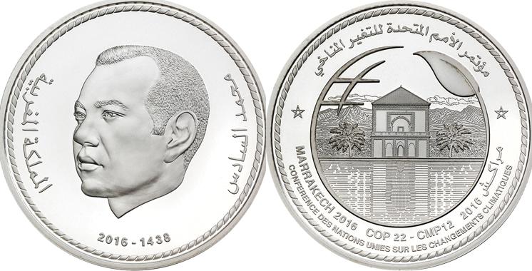 Une médaille en argent pour commémorer la COP22