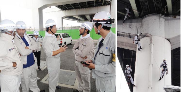 Les cadres d'ADM formés par la société japonaise Hanshin Expressway