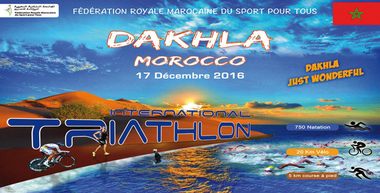 Triathlon international de Dakhla: Une vingtaine de pays y prennent part