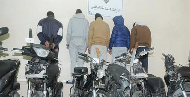 Beni Mellal : Démantèlement d'une bande  de voleurs de vélomoteurs
