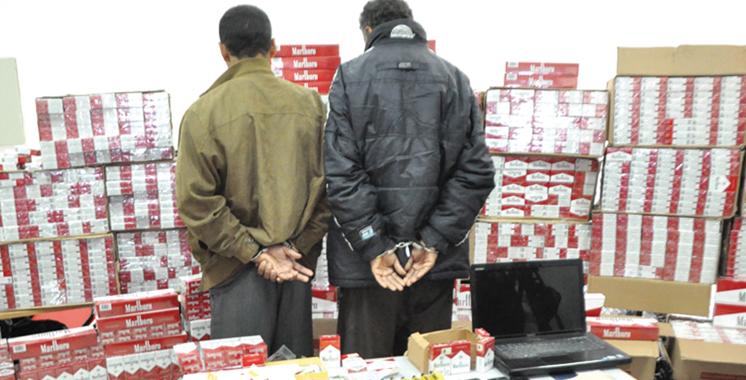 Taroudant : Saisie d'une importante quantité de cigarettes de contrebande et de tabac à chicha