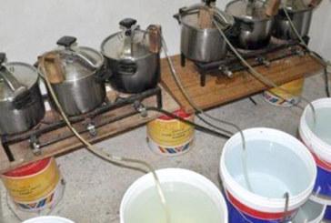 Marrakech : Saisie de 5 tonnes d'eau-de-vie dans un atelier