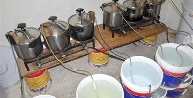 Azemmour :  Saisie de grosse quantité de figues fermentées et de  120 litres d'eau- de-vie