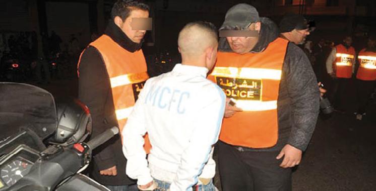 Arrestation de deux individus pour vol sous la menace d'arme blanche suivi de viol