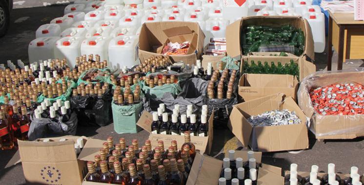 Taroudant : Saisie de l'eau-de-vie et de produits fermentés