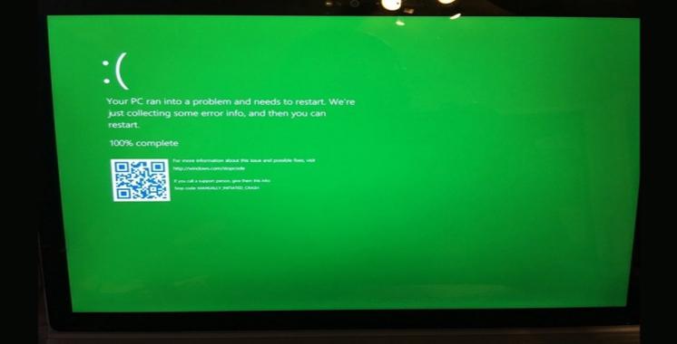 L'écran bleu d'erreur de Microsoft changerait de couleur ?
